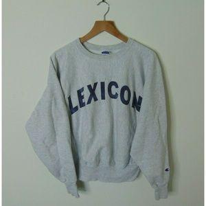 Vintage Champion M Crewneck Sweatshirt Gray